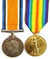 WW1 BRITISH WAR & VICTORY MEDAL PAIR HOUGHTON.L.POOL.R