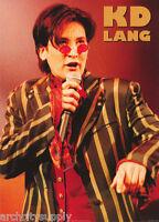 POSTER : MUSIC : K D LANG  - LIVE    FREE SHIPPING !   #PR3007        RP90 E