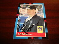 1988 DONRUSS #558 JEFF ROBINSON PIRATES GIANTS SIGNED CARD AUTOGRAPH