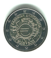 Greece 2012 - 2 Euro Comm - 10th Anniversary Intro of Euro Coins & Notes (UNC)
