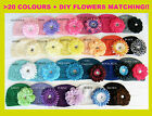 Baby Toddler Girl Crochet Beanie Kufi Hat Cap with flower clip S/M/L