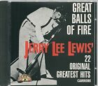 CD COMPIL 22 TITRES--JERRY LEE LEWIS--GREAT BALLS OF FIRE / 22 GREATEST HITS