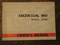 1968 68 HONDA CT90 CT 90 TRAIL 90 K0 KO NOS ORIGINAL OEM OWNER'S DRIVER'S MANUAL