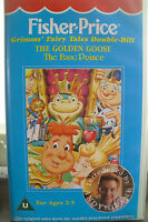 FISHER PRICE - THE GOLDEN GOOSE AND THE FROG PRINCE - RARE VHS VIDEO 1980's