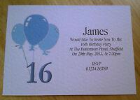 5 PERSONALISED BIRTHDAY INVITATIONS + ENVS 16th 18th 21st 30th 40th 50th 60thSMB