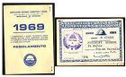 TESSERA ASSOCIAZIONE NAZIONALE COMBATTENTI E REDUCI ANNO 1969