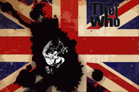 The Who pop art  Oil Painting 30x20, NOT a print or poster.Framing Available.