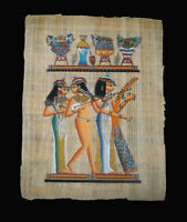 Egyptian Papyrus genuine hand painted Musicians of Nakht 43x33cm