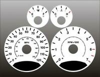 2005-2007 Jeep Liberty Dash Cluster White Face Gauges 05-07