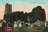Overstrand near Cromer, Ruined Church, old coloured postcard, unposted