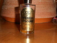 RARE Vintage De Cortot DUCHESS COLOGNE for men 2 fl oz  1/4 full NY Collectible