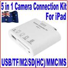 5 in 1 USB Camera Connection+SD TF M2 MMC MS Card Reader Adapter Kit 4 iPad3 &2