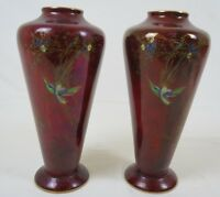 PAIR OF WILTON WARE LUSTRE VASES