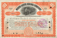 North Butte Mining Company   1907 stock certificate issued to Charles Duncan
