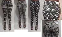 women ladies paisley floral aztec print skinny slim fit stretch jeans size 6-14