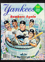 NEW YORK YANKEES BASEBALL MAGAZINE May 23 1995 LUIS POLONIA POSTER Babe Ruth OOP