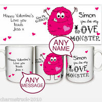 BRAND NEW PERSONALISED LOVE MONSTER MUG ADD A NAME & MESSSAGE GREAT GIFT