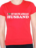 I LOVE MY SOUTH AFRICAN HUSBAND - Valentine/South Africa Themed Womens T-Shirt