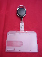 Black Retractable Belt Reel & Police,SO19,SIA Security ID Pass Card/Badge Holder