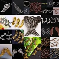 Tibetan Silver Copper Bronze Angel Wings Pendant Charms Spacer Beads Findings