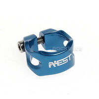Aest Road Bike Blue MTB Bicycle Saddle Seat Post Seatpost Clamp 31.8mm New