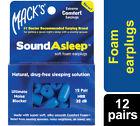 Mack's Sound Asleep Ear Plugs 12 Pairs - Dark Blue