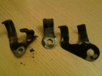 honda cb 250 rs deluxe wiring loom retaining clips x3 set