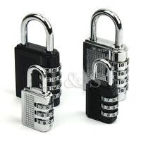 Top Quality 4 Dial Combination Padlock Locker Door Toolbox Luggage Suitcase Lock