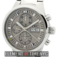 IWC GST Split Second Chronograph Stainless Steel Rhodium Dial IW3715-08 B+P