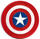 "Captain America Shield 3.5"" Embroidered Movie Patch- FREE S&H (CAPA-03)"