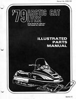 1979 ARCTIC CAT LYNX SNOWMOBILE PARTS MANUAL