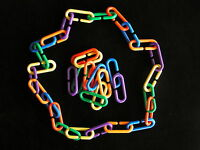 "50 PLASTIC ""C"" LINKS Bird Toys Parts Kids Toys Crafts"
