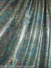 Dance Costume Lycra Fabric Shattered Glass Silver on Black 50cm - 150cm wide
