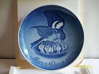 BING & GRONDAHL Mors Dag 1970 Copenhagen Porcelain Plate - Bird & Babies - MIOB!