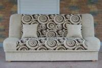 Cream Sofa Bed Maddy- from PRODUCENT. Many COLORS -----  SALE - Polska Wersalka