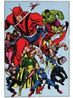 AVENGERS POSTER Marvelmania Vintage Style Art Hercules Wonder Man Panther