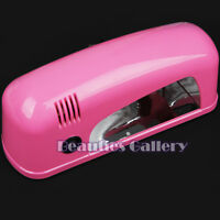 9W PINK UV NAIL CURING LAMP UV GEL DRYER BULB LIGHT ACRYLIC TIPS TIP SST 506