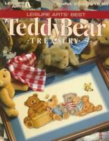 ❤Teddy Bear Treasury Book (Leisure Arts Best) Cross Stitch Patterns 144 Pgs PB ❤