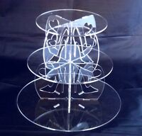 3 Tier Round Acrylic High Heels & Hearts Wedding & Party Cake Stand