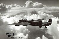 WW2 RAF Pilot Cresswell DFC signed Halifax bomber photo + Mission List! UACC RD