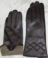 Damen Echt leder Handschuhe