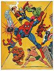MARVEL'S GREATEST HEROES COLLIDE PIN-UP POSTER Vintage art Marvel UK British