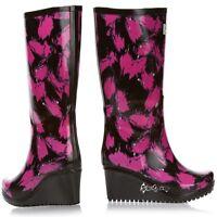 Ladies Wedge Welly Savvy WelliesWellington Boots Unique Flex Curve Sizes 3-8