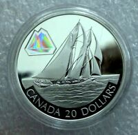"""2000 CANADA SILVER 20 DOLLARS TRANSPORTATION  """"THE BLUENOSE"""" PROOF"""