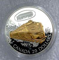"2003 CANADA SILVER 20 DOLLARS TRANSPORTATION  ""FA-1"" LOCOMOTIVE, TRAIN PROOF"