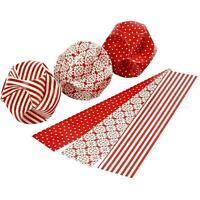9 Click Ornaments Kit Vintage Red Craft Make Christmas 9cm Hanging Decoration