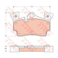 Bremsbelagsatz, Scheibenbremse TRW AUDI: Q7 4L | PORSCHE: CAYENNE 955
