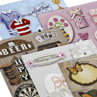 Create & Craft Self Adhesive 3D Embellishments, 9 Designs To Choose From. BNIP
