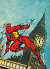 CAPTAIN BRITAIN PIN-UP POSTER Vintage art Marvel UK British