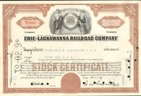 Erie-Lackawanna Railroad Company > New York stock certificate share